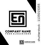 eo initial box letter logo... | Shutterstock .eps vector #1135015355