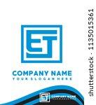 et initial box letter logo... | Shutterstock .eps vector #1135015361