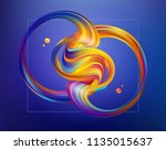 vector illustration  3d... | Shutterstock .eps vector #1135015637