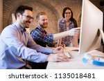 picture of young architects... | Shutterstock . vector #1135018481