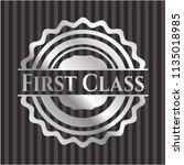 first class silvery emblem or... | Shutterstock .eps vector #1135018985