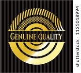 genuine quality gold emblem or... | Shutterstock .eps vector #1135018994