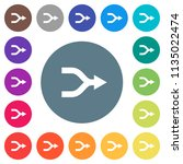 merge arrows flat white icons... | Shutterstock .eps vector #1135022474