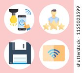simple 4 icon set of web... | Shutterstock .eps vector #1135023599