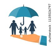 family protection. insurance... | Shutterstock .eps vector #1135026797