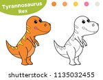 coloring page or book for kids. ... | Shutterstock .eps vector #1135032455