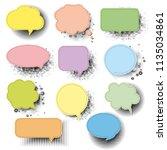 retro speech bubble with white... | Shutterstock .eps vector #1135034861
