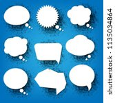 abstract speech bubbles with... | Shutterstock .eps vector #1135034864