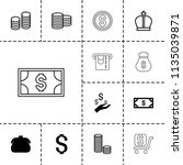 wealth icon. collection of 13... | Shutterstock .eps vector #1135039871