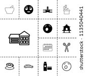 clipart icon. collection of 13... | Shutterstock .eps vector #1135040441