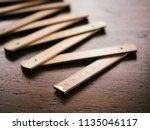 ruler foldable vintage...   Shutterstock . vector #1135046117
