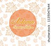 autum seamless pattern  | Shutterstock .eps vector #1135047644