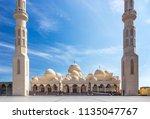 el mina mosque in hurghada ... | Shutterstock . vector #1135047767