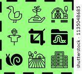 simple 9 icon set of farm... | Shutterstock .eps vector #1135048685