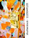 money tree for good luck... | Shutterstock . vector #1135049135