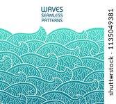 seamless abstract pattern.... | Shutterstock .eps vector #1135049381