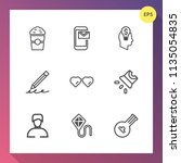 modern  simple vector icon set... | Shutterstock .eps vector #1135054835