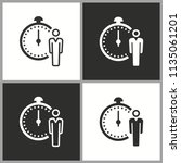 clock time icon  stopwatch... | Shutterstock .eps vector #1135061201