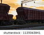 railcar for dry cargo during... | Shutterstock . vector #1135063841