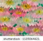 pastel colors triangle shapes...   Shutterstock .eps vector #1135064621