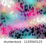pastel colors triangle shapes...   Shutterstock .eps vector #1135065125