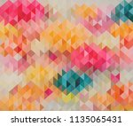 pastel colors triangle shapes...   Shutterstock .eps vector #1135065431