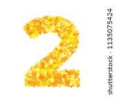 vector yellow stars font ... | Shutterstock .eps vector #1135075424