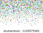 vector colorful gem stones... | Shutterstock .eps vector #1135075481