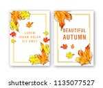 template of card with...   Shutterstock . vector #1135077527