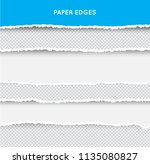 set of ripped and torn paper... | Shutterstock .eps vector #1135080827