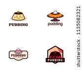 pudding logo design   Shutterstock .eps vector #1135082321
