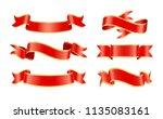 glossy silk or satin decorative ... | Shutterstock .eps vector #1135083161