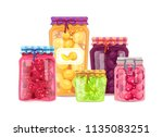 peach and raspberry lime and... | Shutterstock .eps vector #1135083251