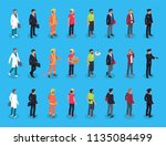 people professions characters... | Shutterstock .eps vector #1135084499