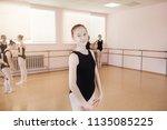 portrait of a young ballerina... | Shutterstock . vector #1135085225