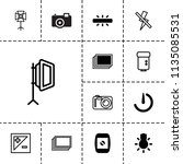 photographer icon. collection... | Shutterstock .eps vector #1135085531