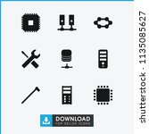 hardware icon. collection of 9... | Shutterstock .eps vector #1135085627