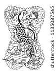 japanese tattoo design full... | Shutterstock .eps vector #1135087565