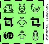 simple 9 icon set of farm... | Shutterstock .eps vector #1135089299