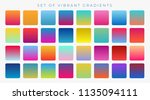 bright vibrant set of gradients ... | Shutterstock .eps vector #1135094111