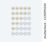 minimal star rating customer... | Shutterstock .eps vector #1135094234