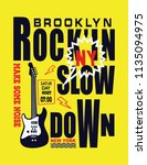 brooklyn new york music... | Shutterstock .eps vector #1135094975