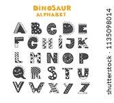 vector lettering alphabet with... | Shutterstock .eps vector #1135098014