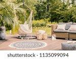 pillows on hammock on terrace... | Shutterstock . vector #1135099094