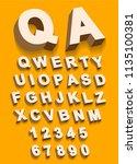 vector of vintage type alphabet ...   Shutterstock . vector #1135100381