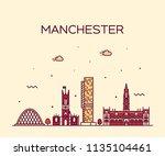 manchester skyline  greater... | Shutterstock .eps vector #1135104461