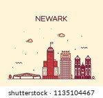newark skyline  new jersey  usa.... | Shutterstock .eps vector #1135104467