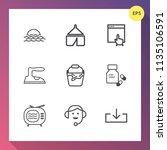 modern  simple vector icon set... | Shutterstock .eps vector #1135106591