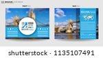 brochure template  flyer design ...   Shutterstock . vector #1135107491