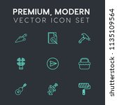 modern  simple vector icon set... | Shutterstock .eps vector #1135109564